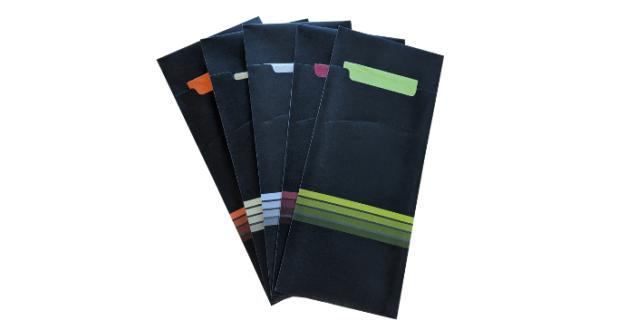 Stock Cutlery Sleeves Printed Napkins & Cutlery Sleeves