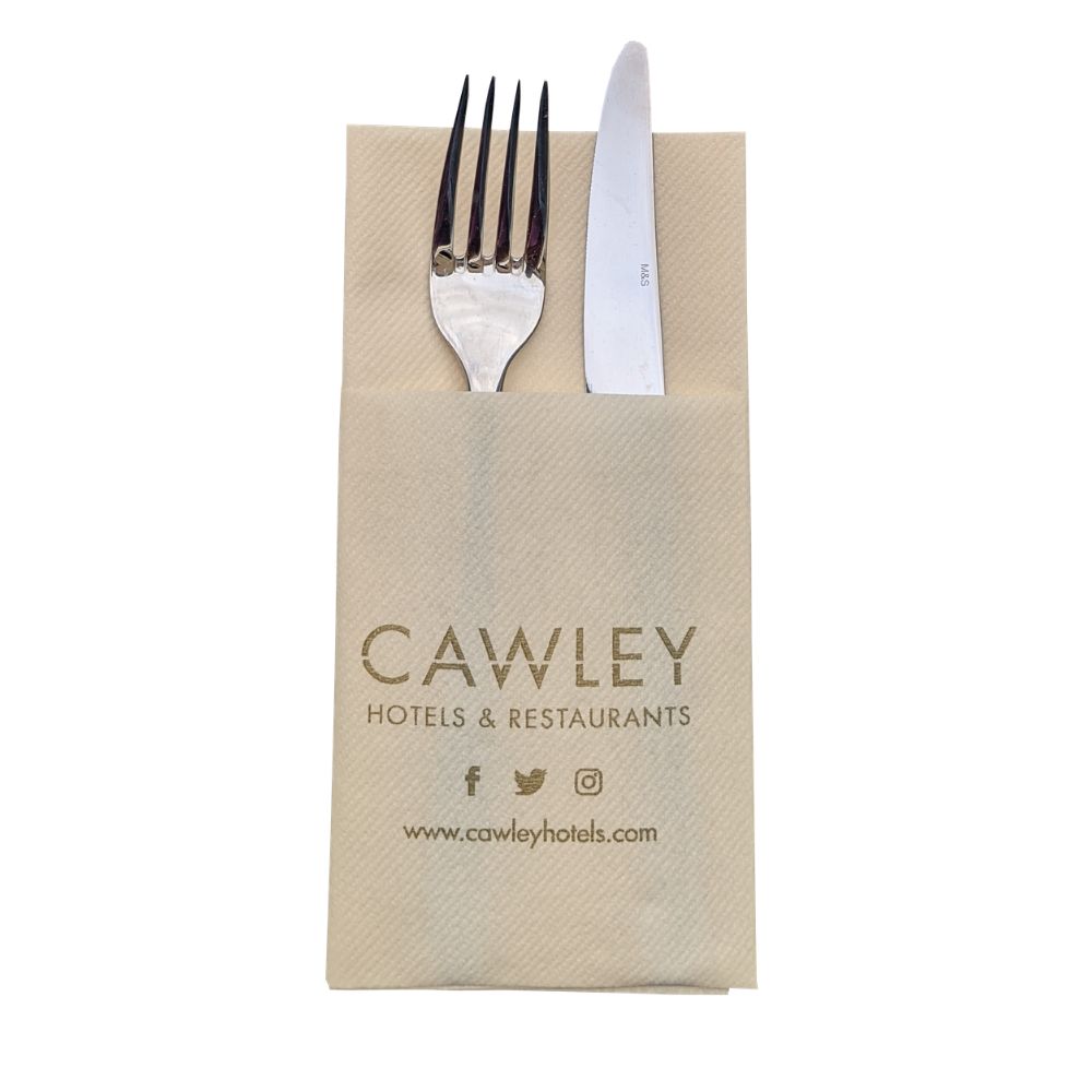 Napkins Printed Napkins & Cutlery Sleeves